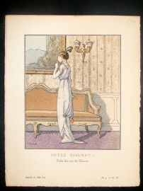 Gazette du Bon Ton by Dresa 1913 Art Deco Pochoir. Soyez Discret